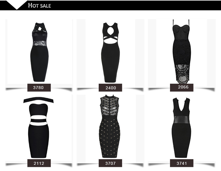 Hot Sales lady evening Cocktail dresses bodycon tight women clothing wholesale sexy bandage dress
