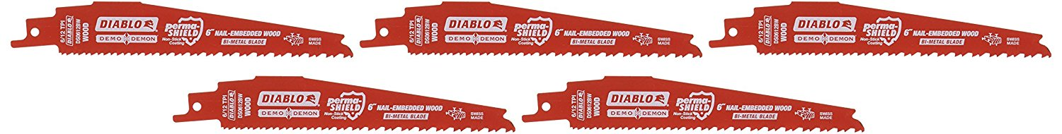 Diablo DS1206CWS 12-Inch 6-TPI Demo Demon Carbide Tipped Reciprocating Blade
