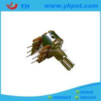 YH factory 16mm stereo volume control potentiometer variable resistor 10k