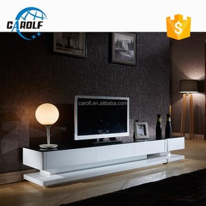 high quality high gloss white tv stand wood cabinet