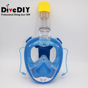 Underwater 180 view Anti fog Silicone Easybreath snorkel full face mask for Adult