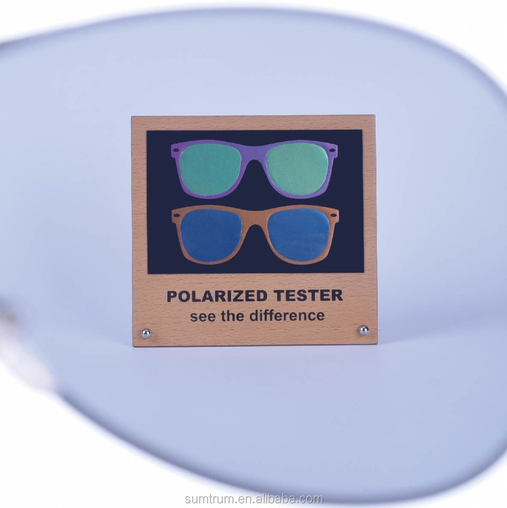 10046dff4fc Polarized Sunglasses Test Card with MDF display - Rainbow tester polarized  lens test picture