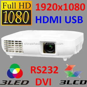 Passive 1080p full HD 3D movie home theater 3led + 3lcd projector compared with benq w1070