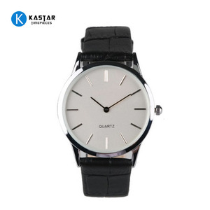 Top quality quartz watch with PU leather strap men watches