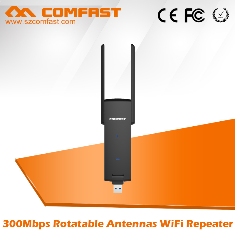 COMFAST 2017 New Product CF-WR311S 300Mbps USB Wifi Repeater USB Wifi Signal Booster Range Extender