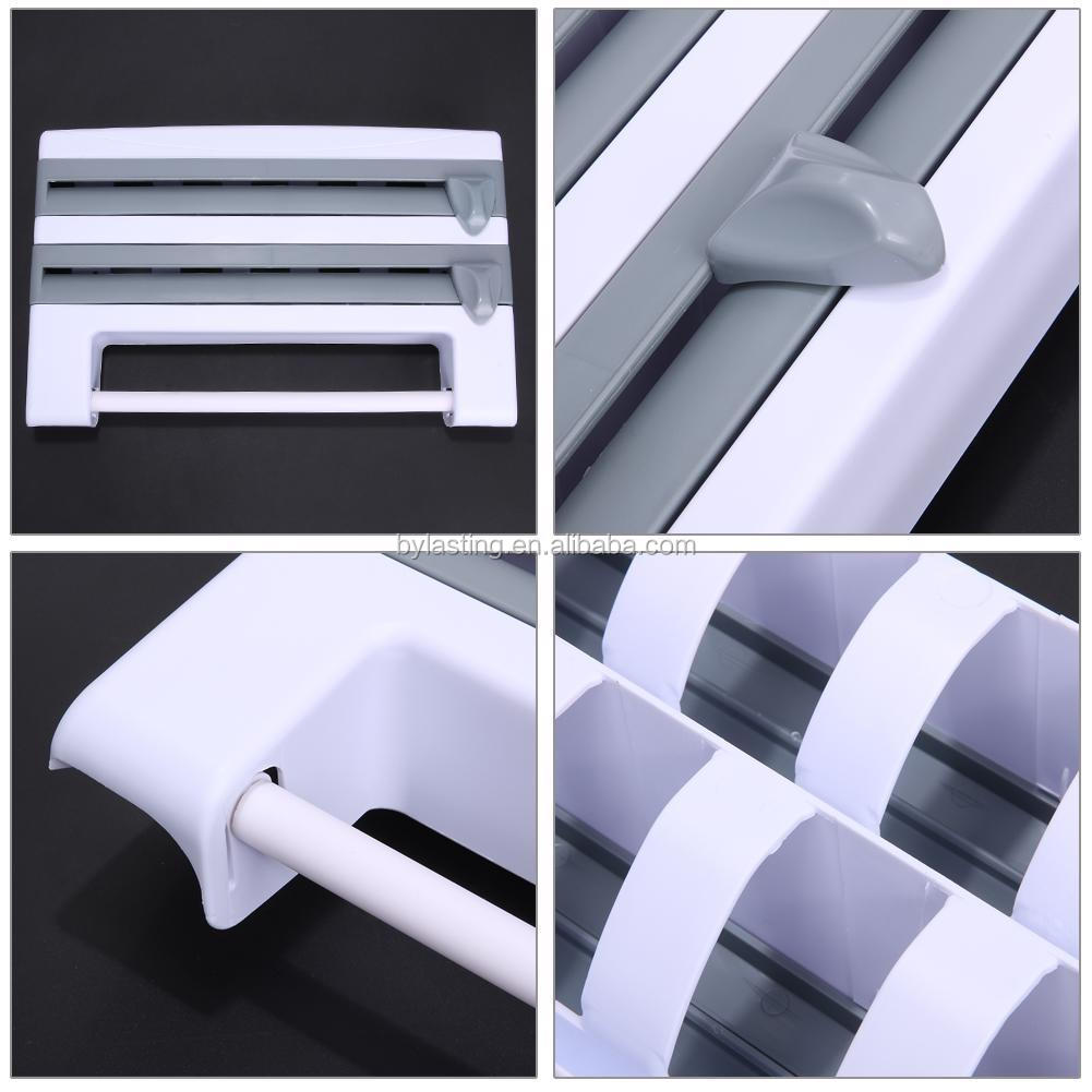 Useful Kitchen Roll Holder Foil Film Wrap Tissue Paper Dispenser Rack Storage