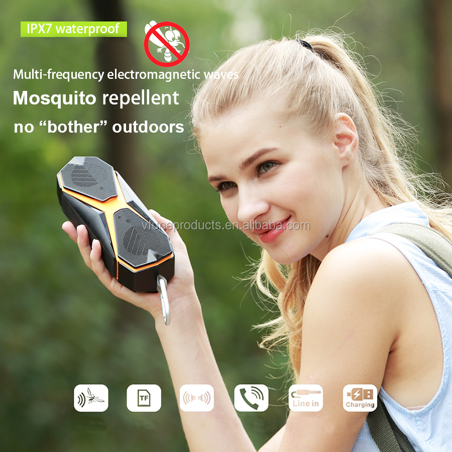 2019 Private Moulding Special Features Portable Dust Proof Speaker Wireless IPX7 Waterproof Speaker Mosquito Repellent Speaker