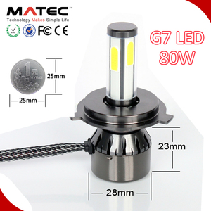 Factory Direct Auto Parts The Smallest LED Headlight G7 L8 G21 80w 8000lm for Motorcycle and Cars