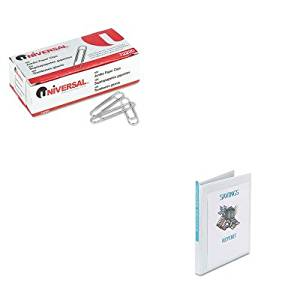 KITAVE19551UNV72220 - Value Kit - Avery Economy Showcase View Binder with Round Rings (AVE19551) and Universal Smooth Paper Clips (UNV72220)
