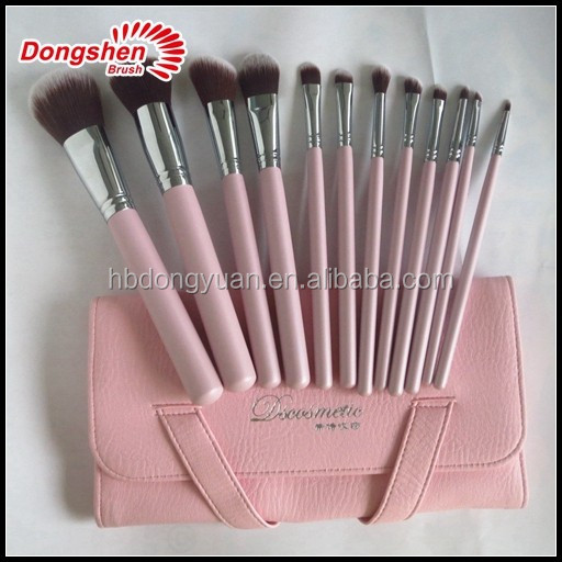 Makeup brush set custom,free sample vegan synthetic hair cosmetic brushes