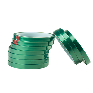 Powder Coating Protection High Temperature Green Polyester PET Silicone Tape