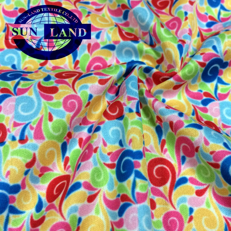 printed 100 polyester super light outdoor jacket bonding interlock fabric