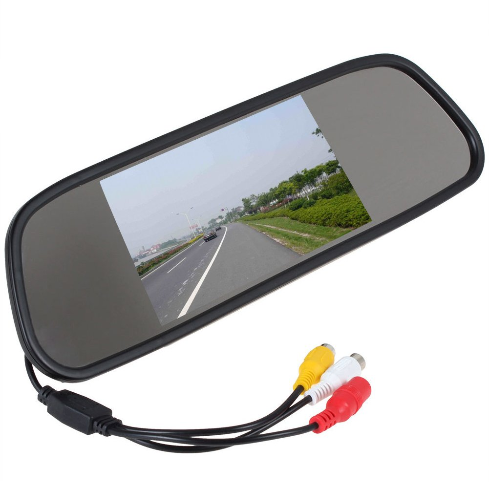 5inch TFT color Mirror car rearview Monitor LCD display 2AV input for DVD/reversing Camera