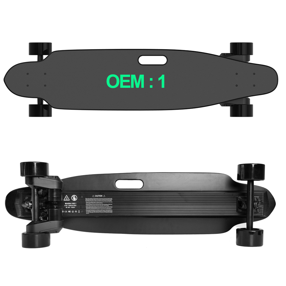 Factory Prices 2000W Max Speed 30mph Dual Belt Motor Boosted Style Canada Maple Electric Skateboard, Red;black