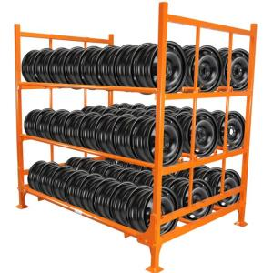 China Factory Promotional Storage Steel Stacking Tire Display Rack