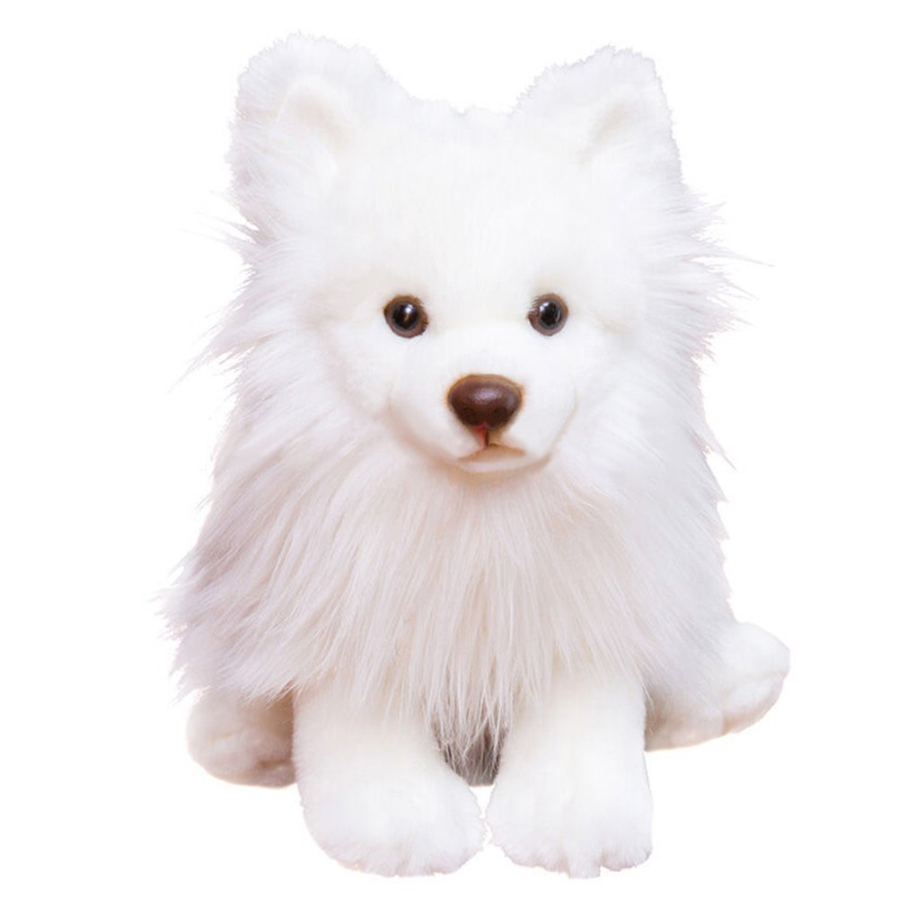 Buy Luckstar Pomeranian Dog Plush Toys 9 White Simulation Stuffed