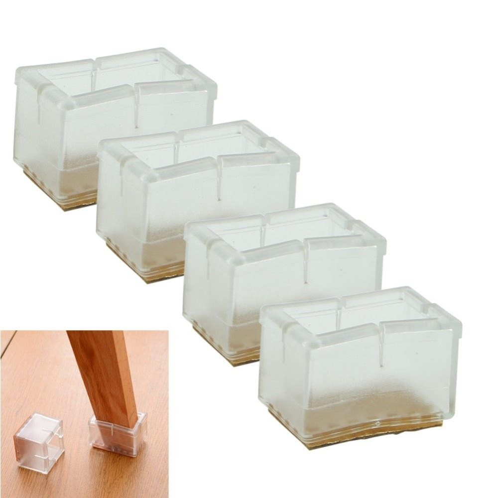 1 set 4 pcs new square chair leg caps rubber feet protector pads furniture table covers in. Black Bedroom Furniture Sets. Home Design Ideas