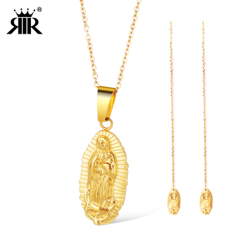 Rir our lady of guadalupe necklace jewelry set 18k gold plated rir our lady of guadalupe necklace jewelry set 18k gold plated virgen de guadalupe pendant religious mozeypictures Choice Image