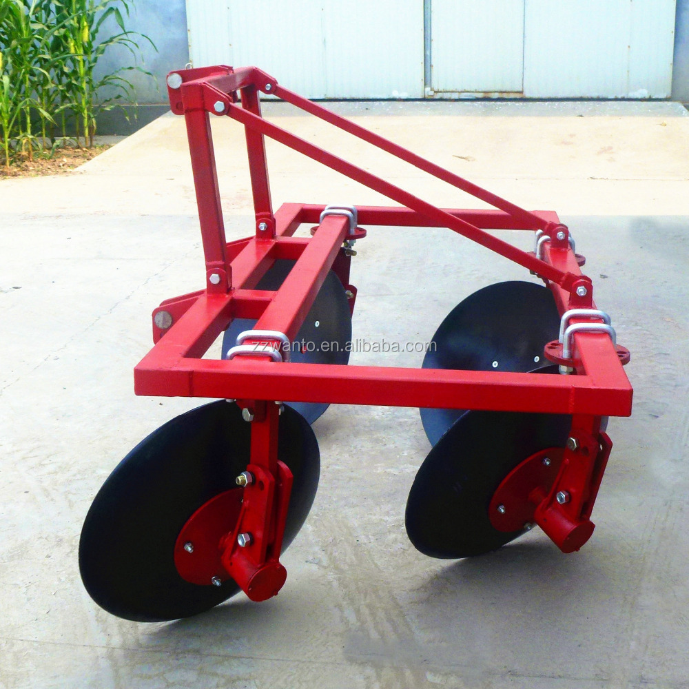 60-90HP tractor 4 disc ploughing machine,2 rows ridger