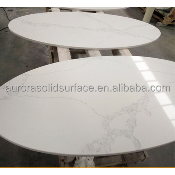 China Top 5 Professional Factory Round Quartz Stone Table Calacatta White Quartz Slabs Table Buy Stone Round Table Tops Quartz Stone Top Dining