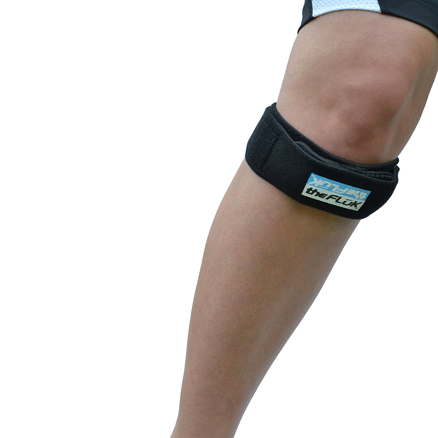 6a48f94b8e The Fluk Premium Adjustable Knee Strap, Knee Pain Relief, Patella  Stabilizer Knee Strap Brace