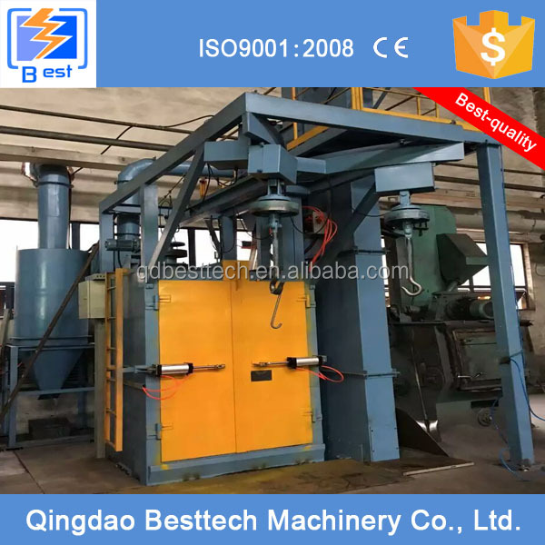 100% hot sale China hook type shot blasting machine
