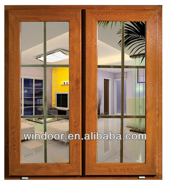 Ventana abatible de pvc color madera econ mica ventanas for Ventanas pvc color madera