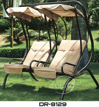 Double Seats Garden Swing Chair,garden Iron Frame Chair