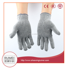 Wholesale Rumei gery color cotton working safety workshop gloves