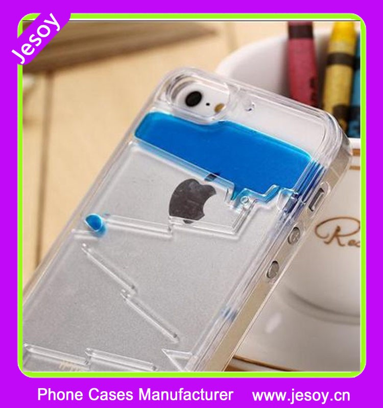 JESOY Blue Liquid Water Drop Case for Apple iPhone 6 Protective Phone Cover