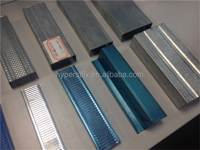 Galvanized Metal Stud and Steel Track for Gypsum Drywall Installation