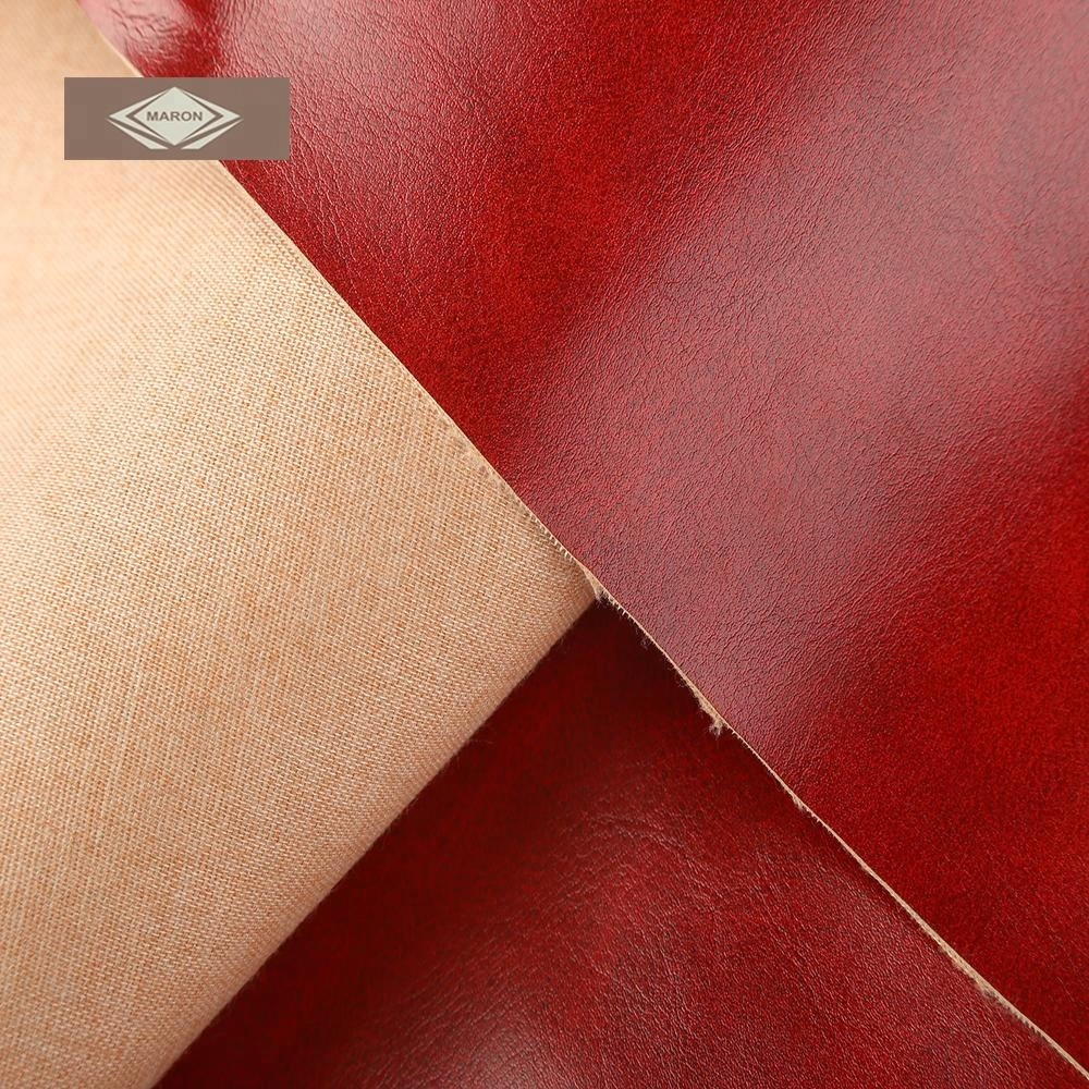 Brick Red 100 PU Synthetic Leather Faux Leather for Sofa Upholstery Furniture Car Seats Cover