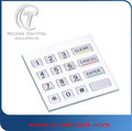 Brushed 16 metal keypad with full travel keys for indoor and outdoor