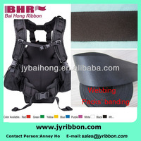 Narrow Nylon ribbon polyester webbing for travel bag