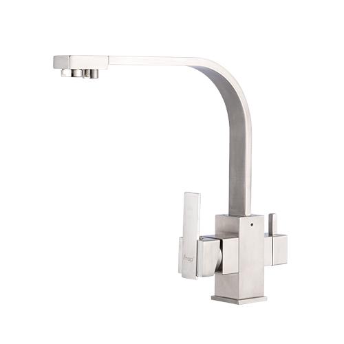 Frap chrome Кухня Раковина кран 360 градусов вращения с очистки воды особенности три способа горячей и холодной воды смеситель F4352(Китай)