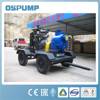 4 Strokes Diesel Engine Operated Trailer Mounted Pump
