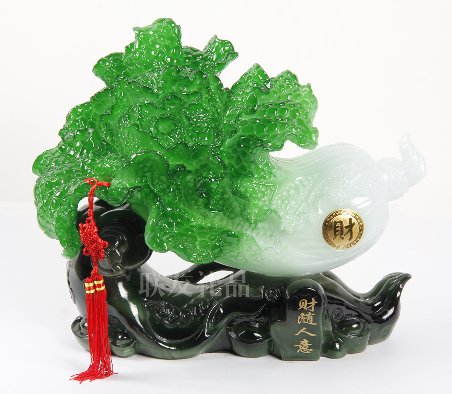 [ Direct wholesale ] resin imitation jade cabbage <font><b>Home</b></font> <font><b>Decoration</b></font> Craft fiscal house from evil spirits with the <font><b>Italian</b></font> people
