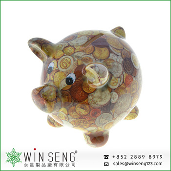 Hot selling dolomite piggy bank for promotion gifts