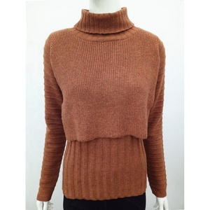 High colla long turtleneck pullover nice sweater sweater for women