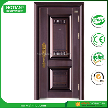 China Factory Lowes French Steel Doors Exterior Wrought Iron