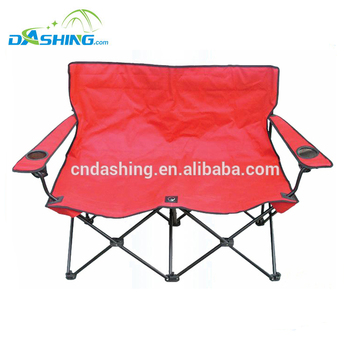 Folding Double Seat Beach Chair 2 Camping Person
