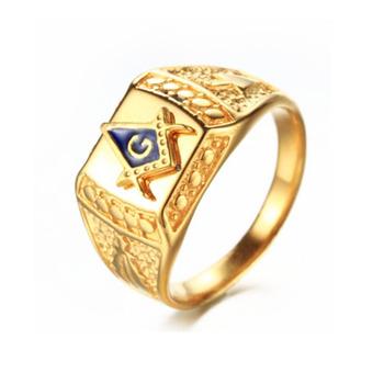 Jingli Jewelry Mens Sapphire Atlantis 4 Gram Gold Rings Masonic