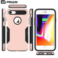 phone accessory pc tpu rugged mobile phone for iphone 7 case , brushed shockproof hybrid case for i phone7