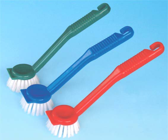 small plastic dish cleaning brush