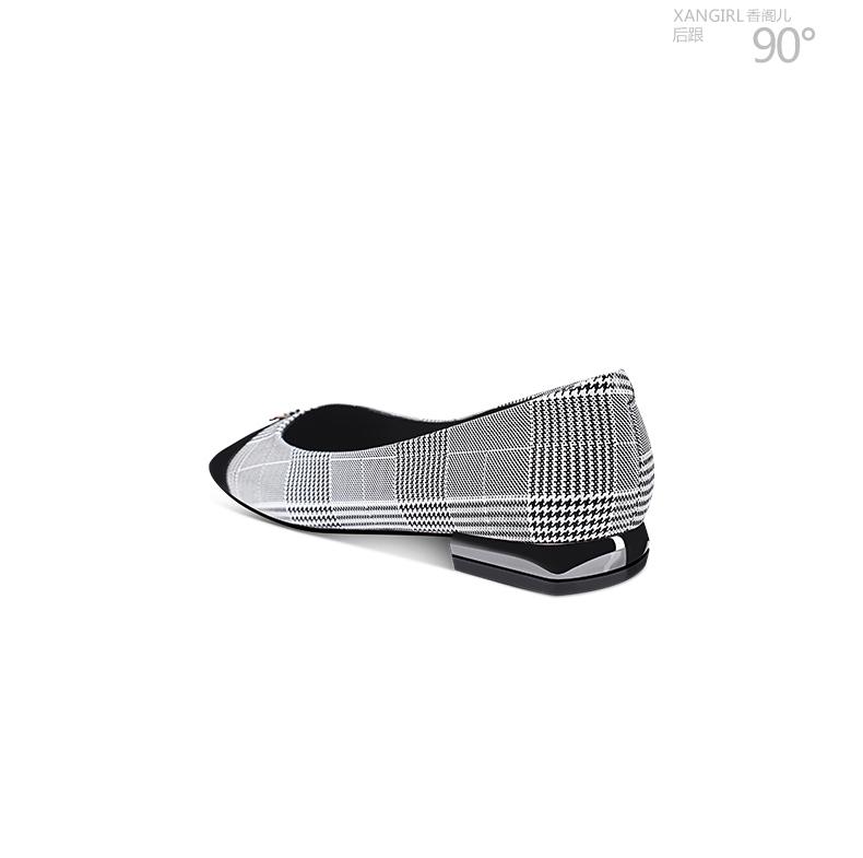 New luxury ladies flat pumps shoes pointed toe fashion heel zrqzaT
