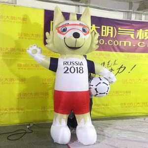 inflatable russia football game mascot inflatable wolf animal cartoon