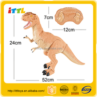 Infrared remote control dinosaurs w/sound & light rc dinosaur plastic toy