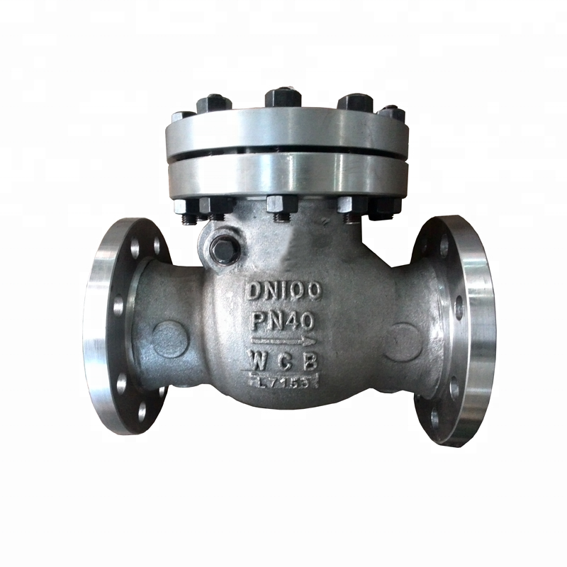 6 Inch DN100 PN40 Bolted Bonnet Carbon Steel A216 WCB Trim NO.8 Flange Swing Check <strong>Valve</strong>