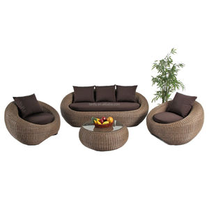 Foshan China Luxury Patio Garden Outdoor Rattan Wicker Sectionals Sofa