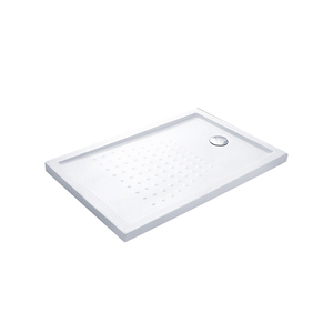 Portable rectangle low level acrylic resin shower tray fiberglass shower base shower pan